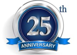 Blue Twenty Fifth Anniversary Pest Control Experience Decal